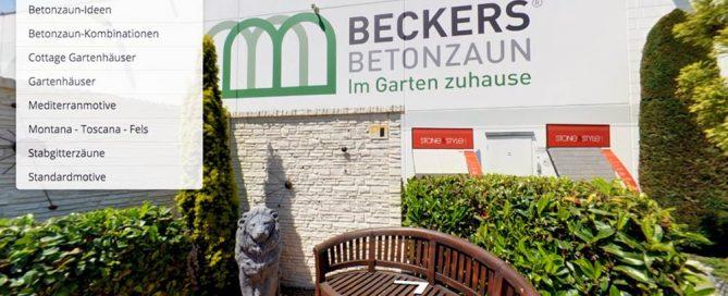 Beckers Betonzaun - via Hotspots im virtuellen Rundgang mehr erfahren