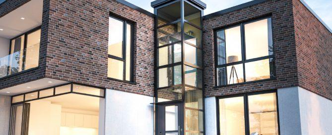 Moderner Homelift außen Einfamilienhaus Perfekta Lift