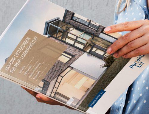 Neues Design für den Katalog von Perfekta Lift